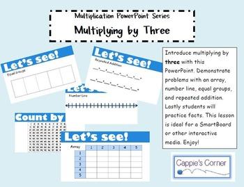Multiplication Skills PowerPoint - Multiplying by Three