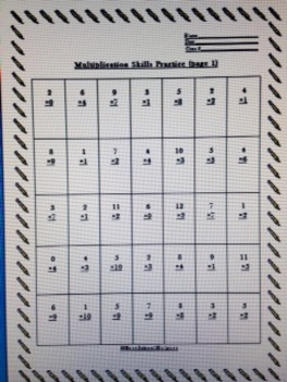 Multiplication Skills Practice Worksheets