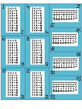 Multiplication/ Skip Counting Card Game x2