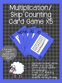 Multiplication/ Skip Counting Card Game x5