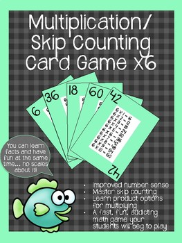 Multiplication/ Skip Counting Card Game x6