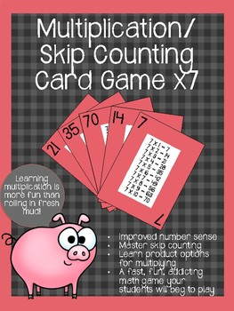 Multiplication/ Skip Counting Card Game x7