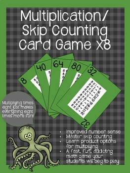 Multiplication/ Skip Counting Card Game x8