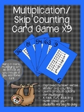 Multiplication/ Skip Counting Card Game x9
