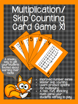 Multiplication/ Skip Counting Card Game BUNDLE x1-x12