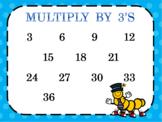 Multiplication Skip Counting Charts 2-6