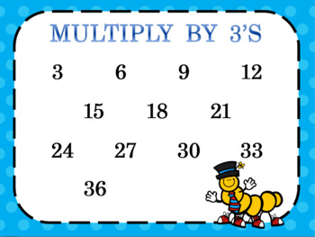 Multiplication Skip Counting Charts 2-6