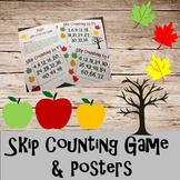Multiplication- Skip Counting Game and Posters (Fall themed)