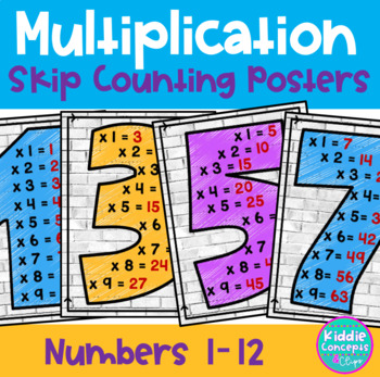 Multiplication Skip Counting Posters