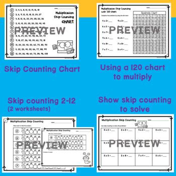 multiplication skip counting worksheets number line and. Black Bedroom Furniture Sets. Home Design Ideas