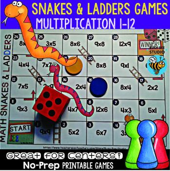 Snakes And Ladders Multiplication Teaching Resources Teachers Pay