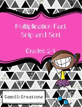 Multiplication Snip and Sort Activity