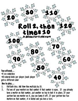 Multiplication Snowflake-themed Math Bump Game