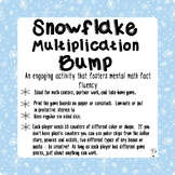 Multiplication Snowflake-themed Math Bump Game