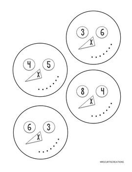 Multiplication Snowman Craftivity