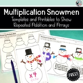 Multiplication Snowmen- Templates and Printables to Show U