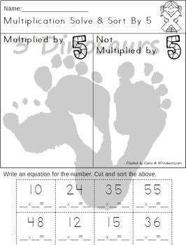 Multiplication: Solve & Sort