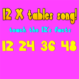 Multiplication Song- 12 times tables (with video)