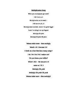 Multiplication Song