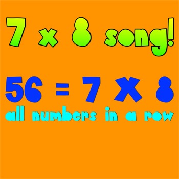 Multiplication Song- 7 X 8 is 56