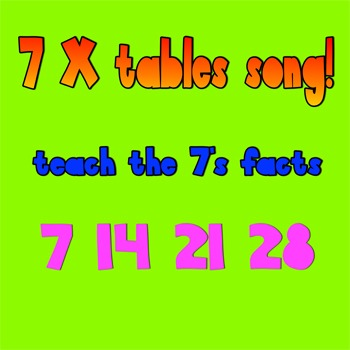 Multiplication Song-7 times tables (with video)