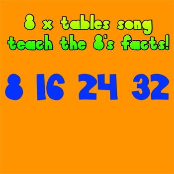 Multiplication Song- 8 times tables