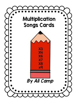 Multiplication Song Cards
