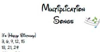 Multiplication Songs