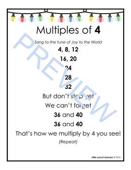 Multiplication Songs: Christmas Carols for 3s & 4s