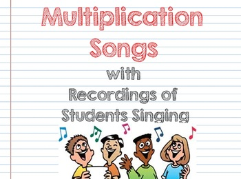 Multiplication Songs with Sound Clips SMART board lesson
