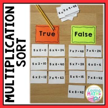 Multiplication Sort Game