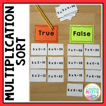 Multiplication Game - Multiplication Sort
