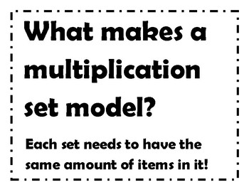 Multiplication Sort: Set Models or Not? w/Recording Page