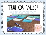 Multiplication Sort: True or False?