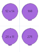 Multiplication Match Two digits by Two Digits Game