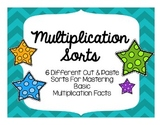 Multiplication Sorts for Mastering Basic Facts!