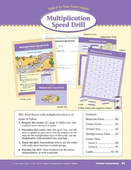 Multiplication Speed Drill (Take It to Your Seat Centers Common Core Math)