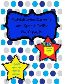 Multiplication Practice - Speed Drills and Quizzes Facts 0-10