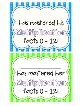Multiplication Speedy Math Fact Packet
