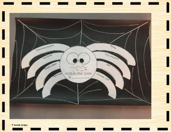 Multiplication Spider: Digital and Printable Version