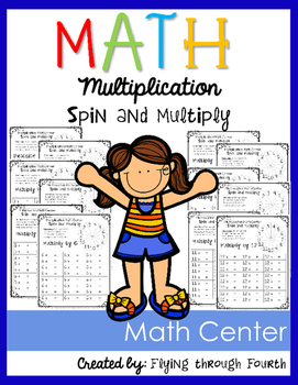 Multiplication {Spin & Multiply} Factors 2-12 Print & Play Math Center