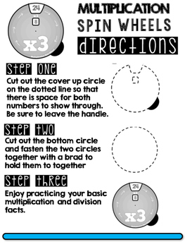 Multiplication Spin Wheels