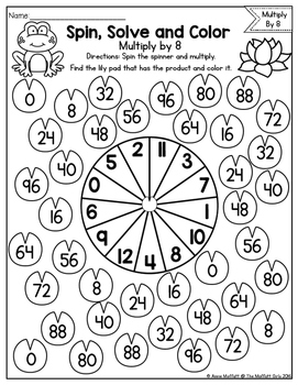 Multiplication: Spin, Solve and Color