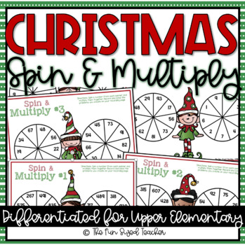 Multi Digit Multiplication - Christmas Spin and Multiply