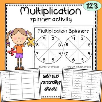 Multiplication Spinner Activity
