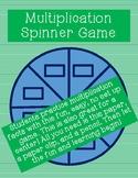 Multiplication Spinner Game!