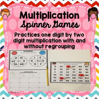 Multiplication Spinner Game