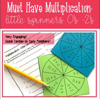 Multiplication Spinners: 0's - 2's