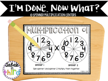 Multiplication Spinners