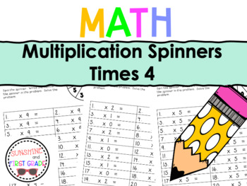 Multiplication Spinners 4